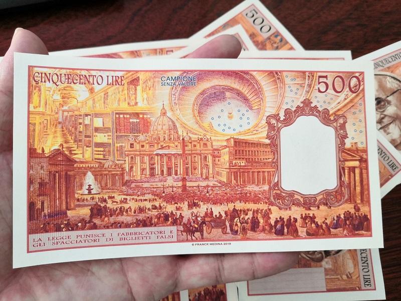 500 Lire Vatican 2019 UNC