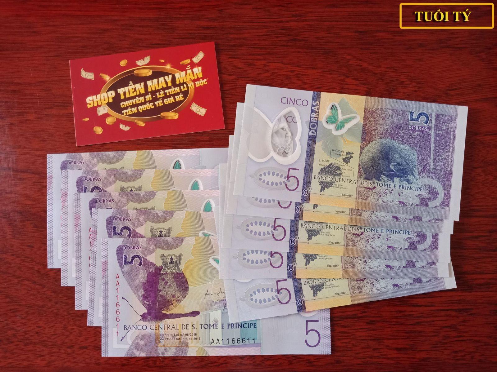 Tiền S.Tome And Principe Hình Con Chuột - Lì Xì Người Tuổi Tý