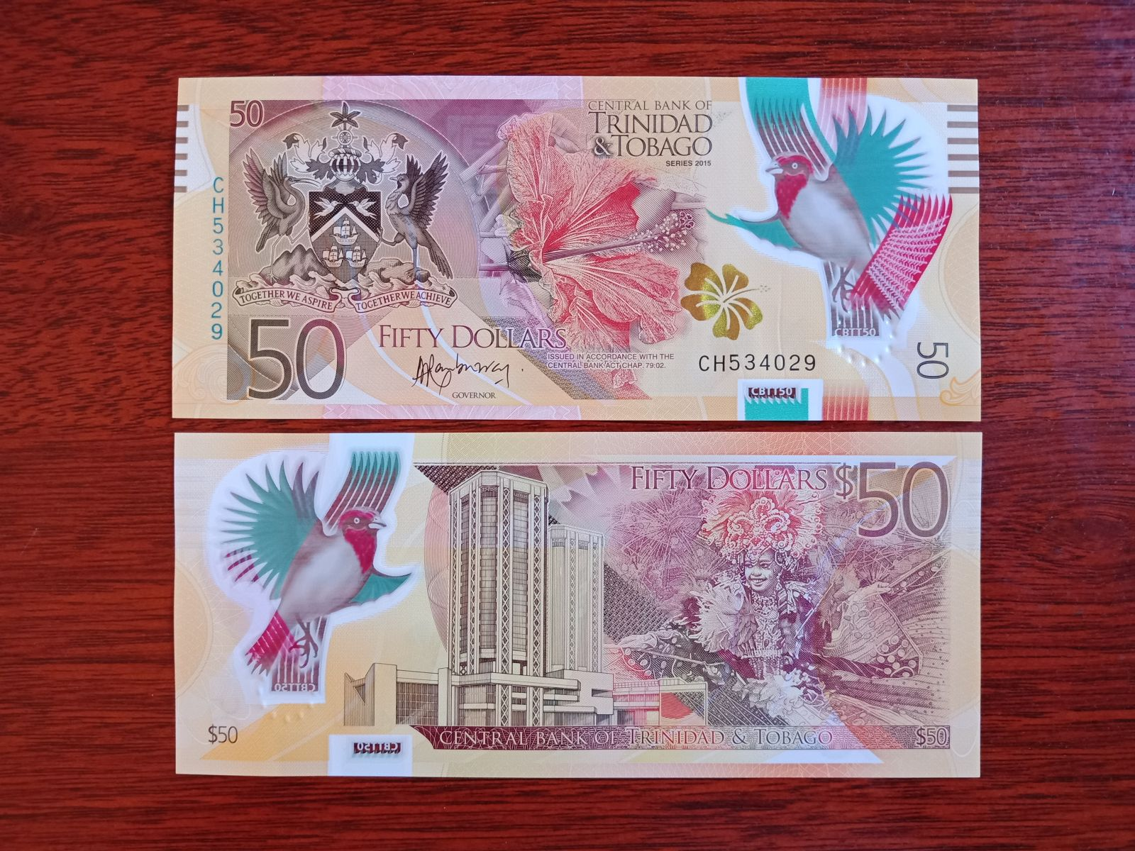 50 Dollars Trinidad & Tobago Polymer 2015