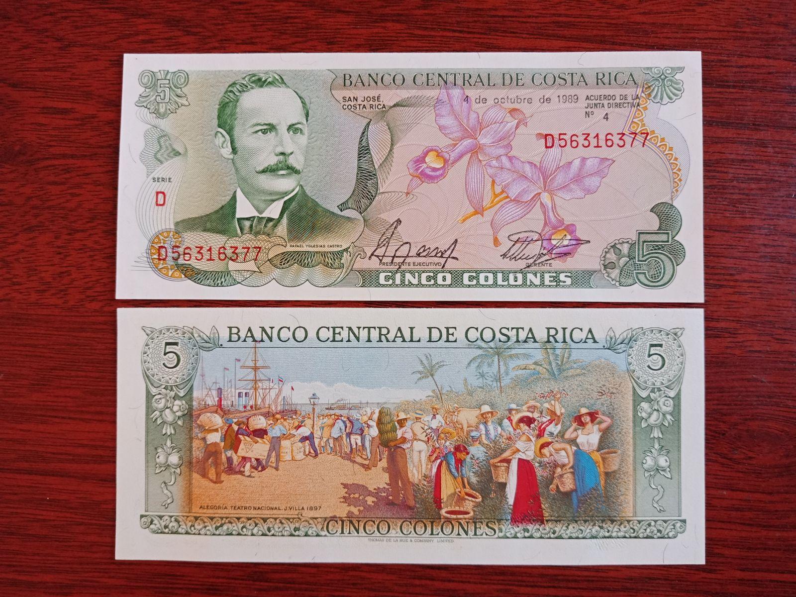 5 Costa Rica 1989 UNC