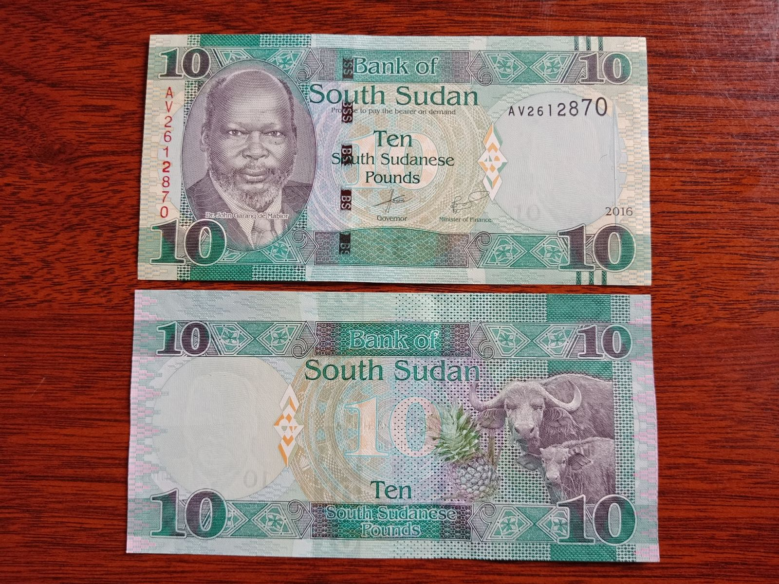 Tiền South Sudan Hình Con Trâu - Lì Xì Người Tuổi Sửu