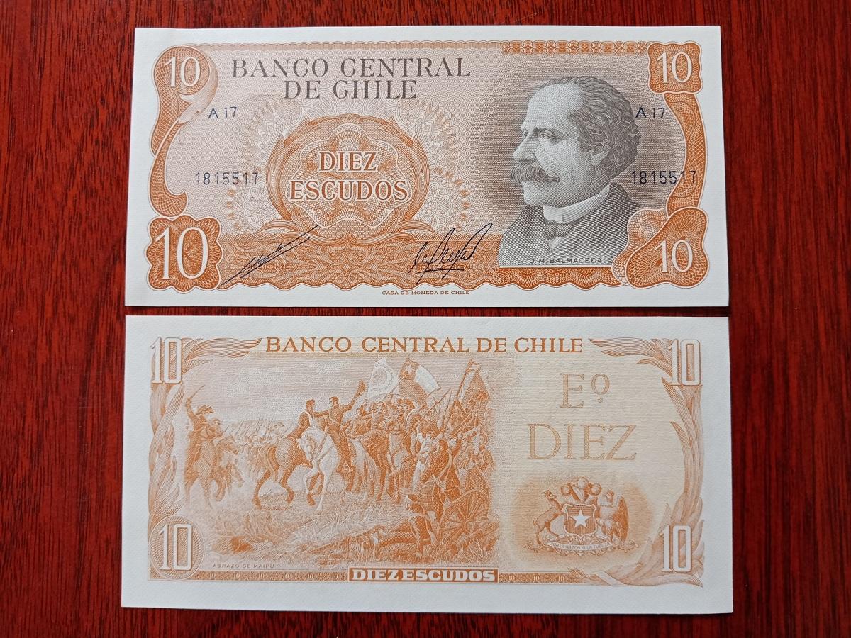 10 Escudos Chile 1967/1976