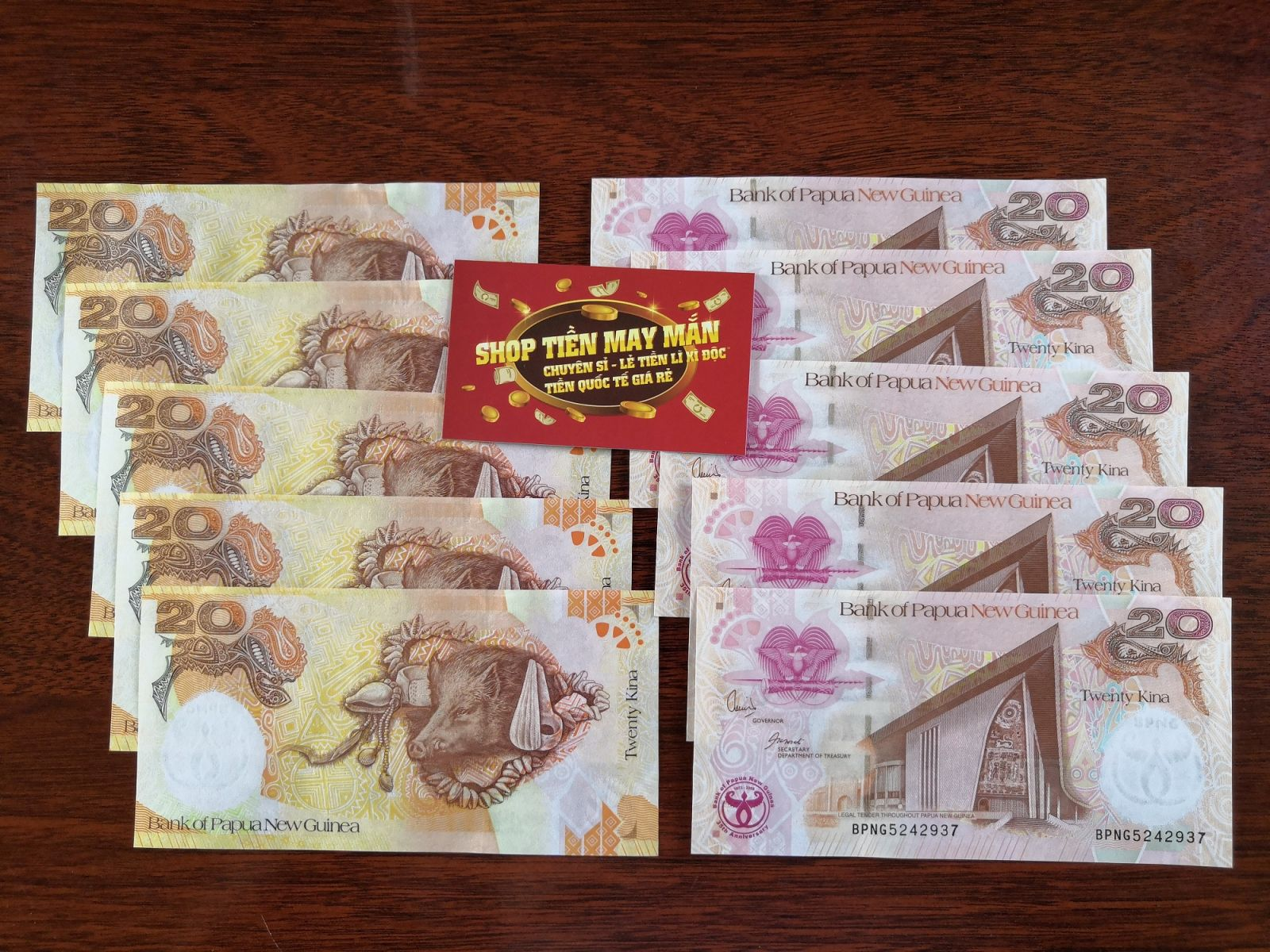COMBO 10 Tờ Tiền Con Heo Papua New Guinea