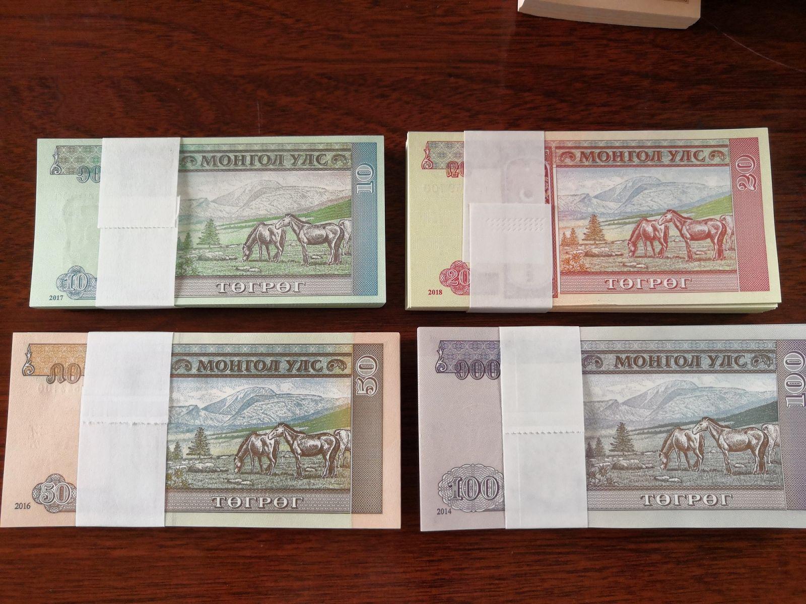 Tiền Mông Cổ Hình Ngựa 4 Mệnh Giá - 400 Tờ