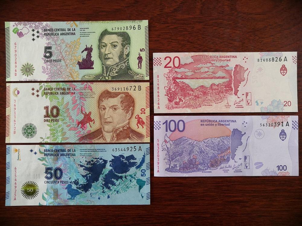 Bộ 5 Tờ Argentina UNC