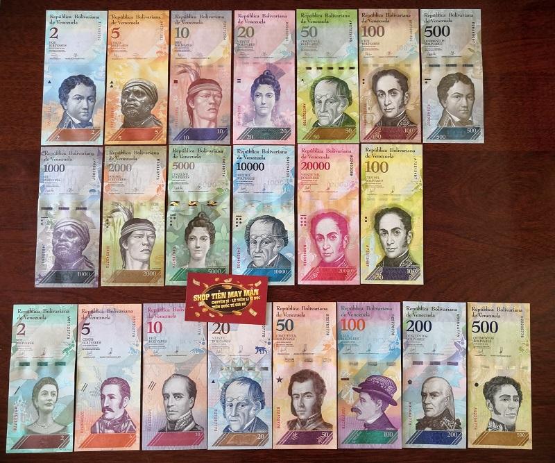 Full Bộ 21 Tờ Venezuela - mới nhất