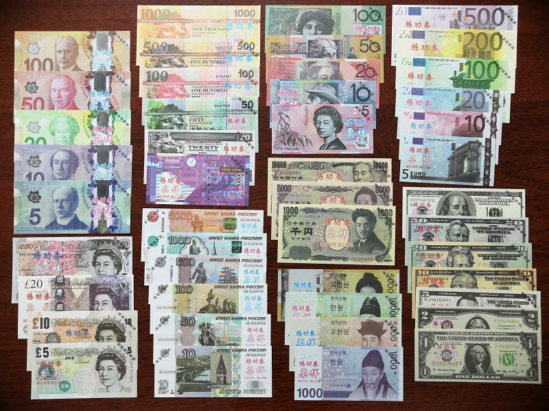 Full 9 Bộ Play Money - Tiền Lưu Niệm