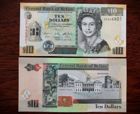 10 Dollars Belize 2016 UNC